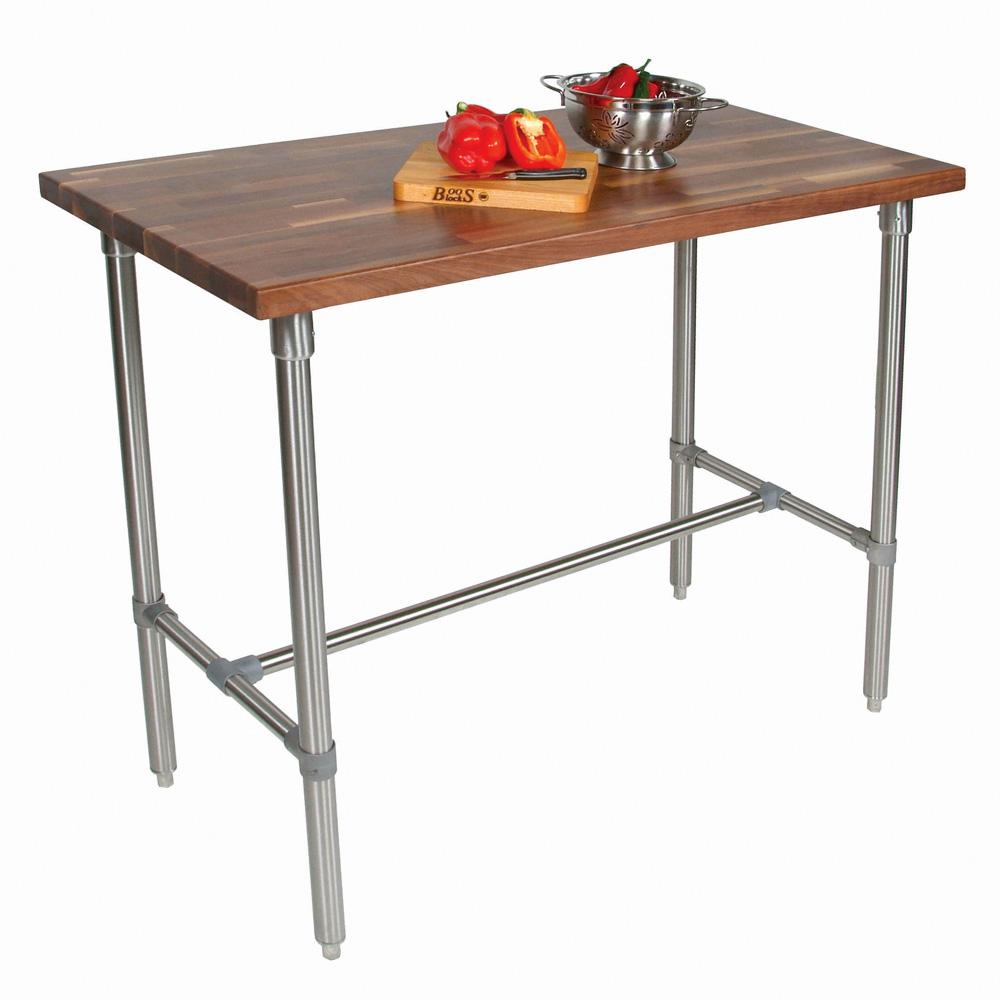 "John Boos WAL-CUCKNB424 Cucina Americana Classico Table, Walnut, 48 x 24 x 36"" H"