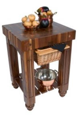 John Boos WAL-GB3624 Gathering Block, 4 in End Grain American Black Walunt, Basket, Shelf, 36 x 24 in