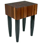 John Boos WAL-PCA2 Walnut Butcher Block, 24 x 18 x 10-in, 34-in H, Black Legs