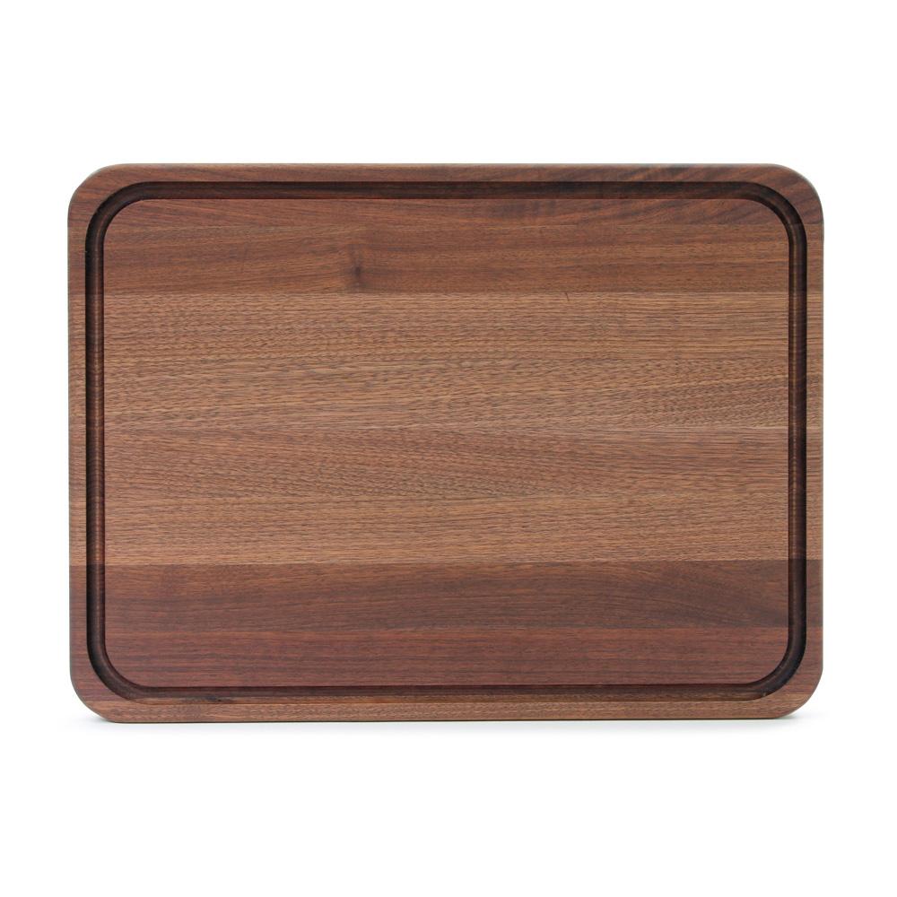John Boos WAL-TEN2418 Cutting Board w/ Juice Groove- Stainless Feet, 24x18x2, American Black Walnut