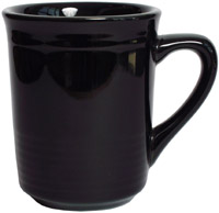 Tuxton CBM-085 Gala Mug, 8 oz, 3 in, Concentrix Black