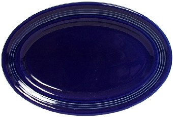 Tuxton CCH-096 Platter, 9-3/4 in x 6-1/2 in, Oval, Concentrix Cobalt