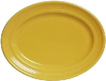 Tuxton CSH-136 Platter, 13-3/4 in x 10-1/2 in, Oval, Concentrix Saffron