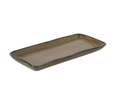 "Tuxton GAJ-550 Rectangular Ceramic Tray - 5-1/8x11-5/8"" Mojave"