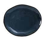 "Tuxton GAN-023 Oval Ceramic Platter - 11x13-1/4"" Night Sky"