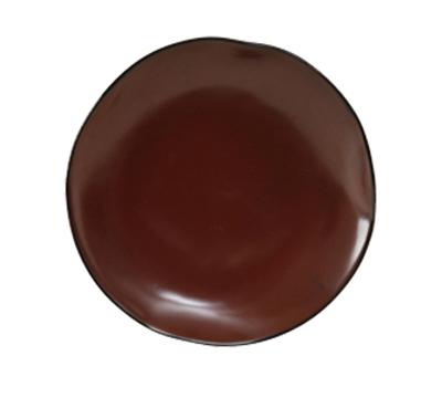 """Tuxton GAR-006 10-1/4"""" Round Ceramic Plate - Red Rock"""