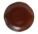 "Tuxton GAR-008 11-5/8"" Round Ceramic Plate - Red Rock"