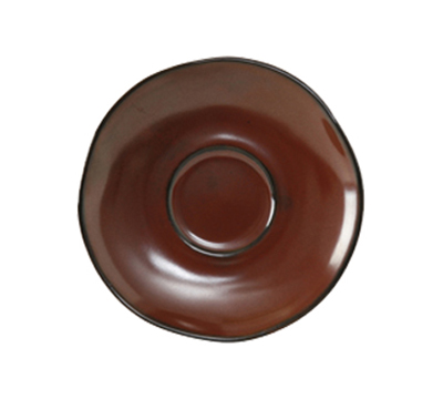"Tuxton GAR-084 6-3/8"" Ceramic Saucer - Red Rock"