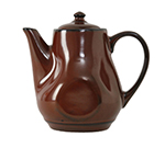 Tuxton GAR-101 17-oz Ceramic Teapot with Lid - Red Rock