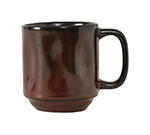Tuxton GAR-150 12-oz Ceramic Yukon Mug - Red Rock