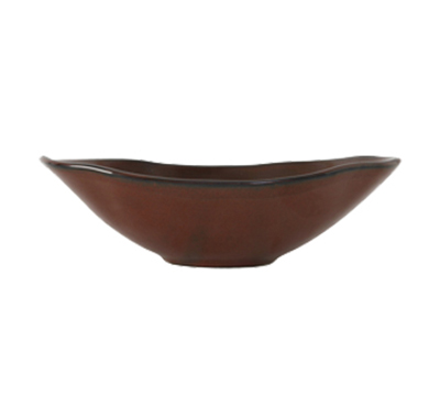 Tuxton GAR-402 11-1/2-oz Ceramic Capistrano Bowl - Red Rock