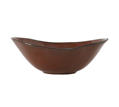 Tuxton GAR-403 20-oz Ceramic Capistrano Bowl - Red Rock