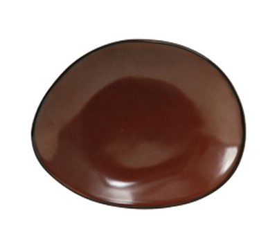 "Tuxton GAR-650 Ellipse Ceramic Plate - 8-3/8x6-7/8"" Red Rock"