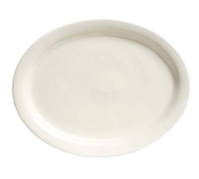 Tuxton TNR-040 American White Narrow Rim Platter, Nevada, Oval