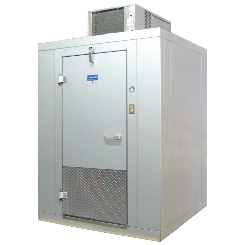 "Arctic BL66-CF-SC Indoor Walk-In Cooler w/ Floor - 5' 10"" x 5' 10"", Self-Contained Refrigeration"