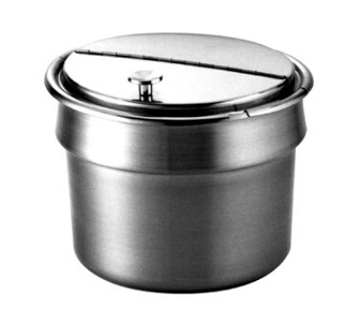 Wells 21057 11-qt Round Inset w/ Hinged Lid & No Handles