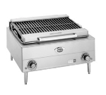 "Wells B-40 240 24"" Charbroiler w/ Cast Iron Grates, 240/3 V"