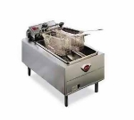 Wells F-49 208 Countertop Electric Fryer - (1) 15-lb Vat, 208v/1ph