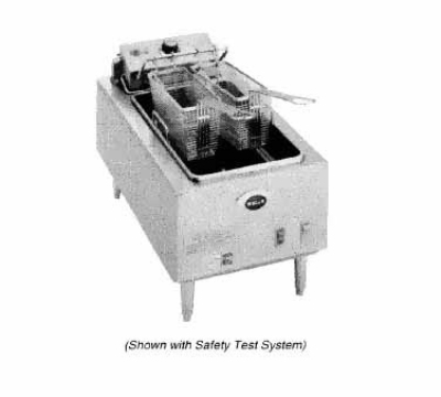 Wells F-55 208 Countertop Electric Fryer - (1) 15-lb Vat, 208v/1ph