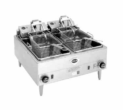 Wells F-68 Countertop Electric Fryer - (2) 15-lb Vat, 240v/3ph