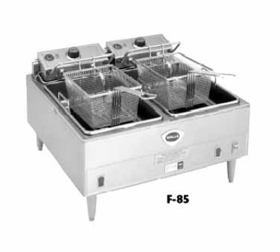 Wells F-85 Countertop Electric Fryer - (2) 15-lb Vat, 240v/3ph