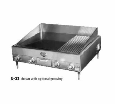 "Wells G-23 240 34.25"" Electric Griddle - Thermostatic, 1"" Steel Plate, 240v/1ph"