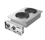 Wells H-706 220240 Built In Hot Plate w/ Two Solid Cast-Iron Elements, Export