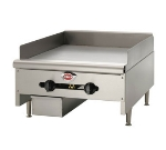 "Wells HDG-2430G 23"" Gas Griddle - Manual, 3/4""  Plate, NG"