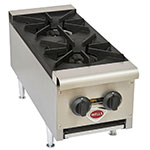 Wells HDHP-1230G Hot Plate w/ 2-Cast Iron Grate Burners, NG/LP