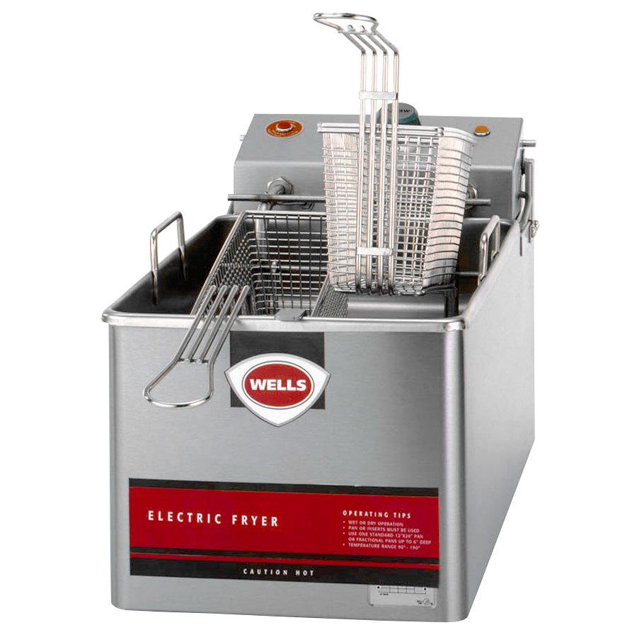 Wells LLF-14-120-QS Countertop Electric Fryer - (1) 14-lb Vat, 120v