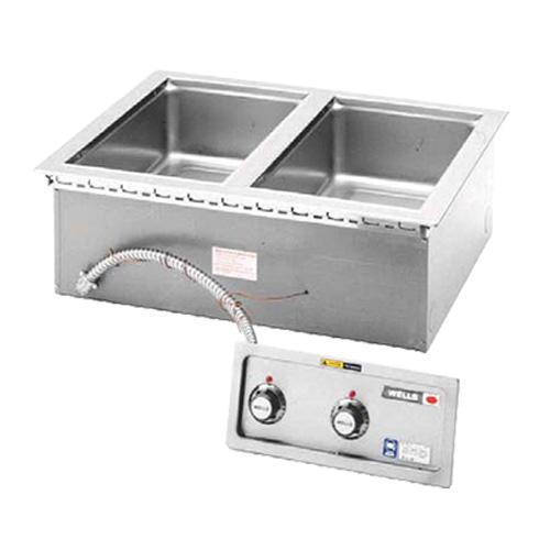 Wells MOD-200TDM-QS 2-Well Drop-In Food Warmer - Thermostatic, 208-240v/1ph