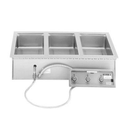Wells MOD-300TDM-QS 3-Well Drop-In Food Warmer - Thermostatic, 208-240v/1ph
