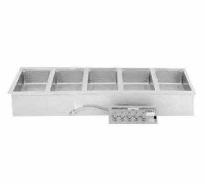 Wells MOD500DM 5-Pan Built In Food Warmer w/ Infinite Controls, Drains, 208/240/3 V