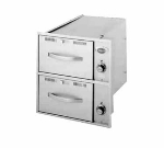 Wells RWN-26 120 2-Drawer Narrow Warming Unit For Built In Use, 120 V