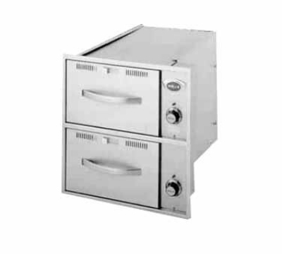 Wells RWN-26 2-Drawer Narrow Warming Unit For Built In Use, 208v/1ph