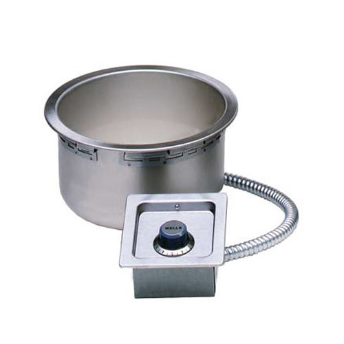 Wells SS-10TDU-QS 11-qt Built-In Food Warmer w/ Drain - Thermostatic, 208-240v/1ph