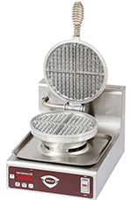 Wells WB2E Double Round Waffle Baker - Operator Controls, Aluminum Grids, Stainless, 120v