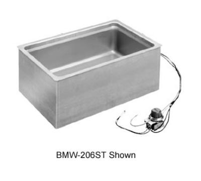 Wells BMW-206RTD 120 Built In Hot Food Well, Round Corners & Drain, Thermostatic, 120 V