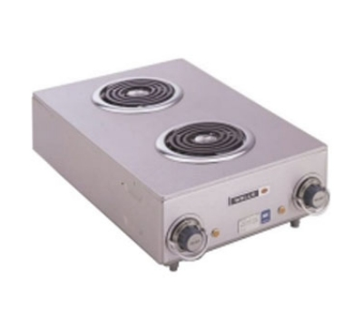 Wells H-115 Hotplate w/ 2-Flat Spiral Elements & 1-in Legs, 120 V