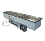 Wells MOD-300TDMN/AF Narrow Built In Food Warmer, Manifold Drains, Auto Fill, 3-Pan, 208/240/3