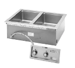 Wells MOD-200TDMN/AF Narrow Built In Food Warmer, Manifold Drains, Auto Fill, 2-Pan, 208/240/1