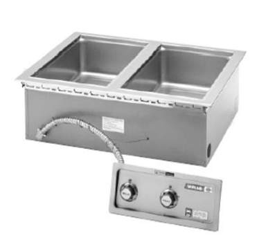 Wells MOD-200TDMN Narrow Built In Food Warmer w/ Manifold Drains, 2-Pan, 208/240/1 V