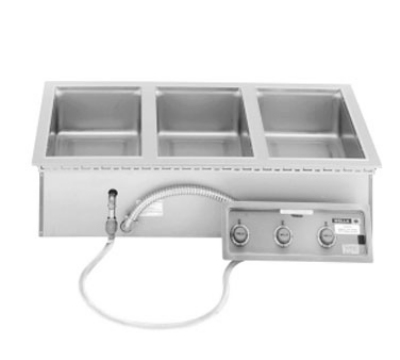 Wells MOD-300TDM/AF Built In Food Warmer, Drain, Auto Fill, Thermostatic, 3-Pan, 208/240/3