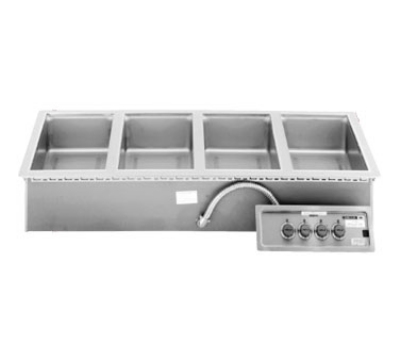 Wells MOD-400TDM Built In Food Warmer, Manifold Drain, Thermostatic, 4-Pan, 208/240/3