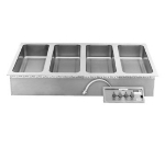 Wells MOD-427TDM Built In Food Warmer, Manifold Drains, (16) 1/3-Size Pans, 208/240/3
