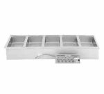 Wells MOD-500TDM/AF Built In Food Warmer, Manifold Drain, Auto Fill, 5-Pan, 208/240/3V
