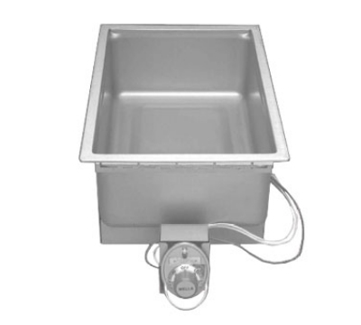 Wells SS-206ERD 120 Built In Food Warmer w/ Round Corners & Drain, 1-Pan, 120 V