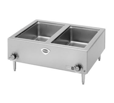 Wells TMPT Food Warmer w/ Thermostatic Controls, 4-in Legs, 2-Pan, 208/240/1V