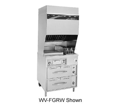 Wells WV-FG Electric Fryer w/ Griddle - (1) 15-lb. Vat Fl...