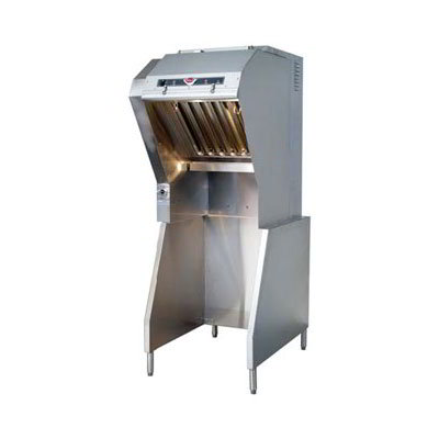 "Wells WVU-26 24"" Ventless Hood w/ Stand, 3-Stage Filtration"